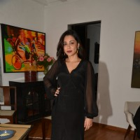 Amrita Puri poses for the media at Belvedere Bash