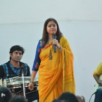 Rekha Bhardwaj was seen performing at Anurag Basu's Saraswati Pooja