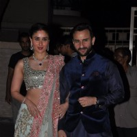 Saif Ali Khan and Kareena Kapoor pose at Soha Ali Khan and Kunal Khemu's Wedding Reception