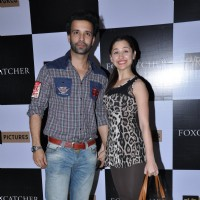 Aamir Ali & Sanjeeda Shaikh were at the Premiere of Foxcatcher