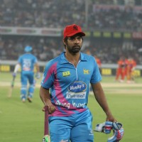 Shabbir Ahluwalia was snapped at CCL Match Between Mumbai Heroes and Telugu Warriors