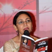 Deepti Naval was snapped reading a few lines from the Book at the Launch