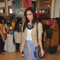 Roshni Chopra poses for the media at Araish Exhibition