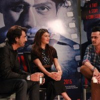 Jacqueline Fernandes and Arjun Rampal snapped during the Promotions of Roy
