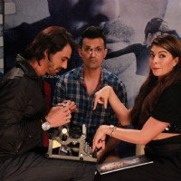 Jacqueline Fernandes and Arjun Rampal prepare Karikatur during the Promotions of Roy