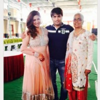 Vivian Dsena &his mom and Vahbbiz Dorabjee
