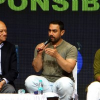 Aamir Khan interact with the audience at YFG Event