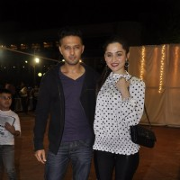 Vatsal Sheth and Sanjeeda Shaikh pose for the media at Hum Log Awards