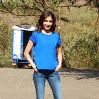 Anushka Sharma poses for the media at the Promotions of NH10 on Savdhaan India