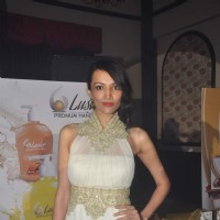 Dipannita Sharma poses for the media at the Launch of Luster Cosmetics