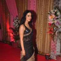 Mahie Gill poses for the media at the Grand Success Bash of Hey Bro's Music