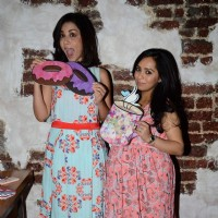 Amrita Puri poses for the media at Mineralini Collection Launch