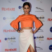 Sonal Chauhan poses for the media at Filmfare Glamour and Style Awards