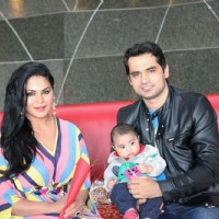 Veena Malik Birthday Celebration with her husband and son