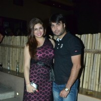 Vivian Dsena and Vahbbiz Dorabjee pose for the media at the Launch of Tere Sheher Mein