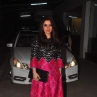Tisca Chopra poses for the media at the Screening Held by Rajkumar Rao