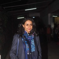 Gul Panag poses for the media at the Screening Held by Rajkumar Rao