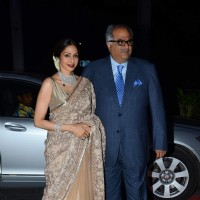 Sridevi and Boney Kapoor were seen at Tulsi Kumar's Wedding Reception