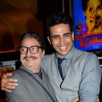 Vinay Pathak and Gulshan Devaiah pose for the media at the Premier of Hunterrr