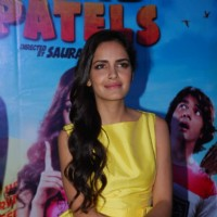 Shazahn Padamsee was snapped at the Press Meet of Solid Patels