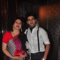 Kunickaa Lall with her son at the Lakme Fashion Week 2015 Day 2