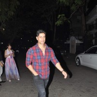 Mohit Raina poses for the media at Karim Morani's Birthday Bash