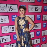 Prachi Desai poses for the media at Lakme Fashion Week 2015 Day 4