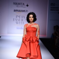 Sonal Chauhan walks for Nikhita at Amazon India Fashion Week 2015 Day 4