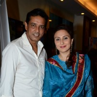 Anup Soni and Juhi Babbar pose for the media at Launch of the Book Great Grandma's Kitchen Secret