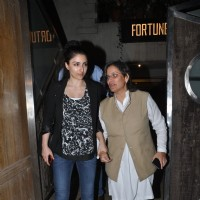 Soha Ali Khan was snapped with a guest at Saif Ali Khan and Kareena Kapoor Khan's Bash