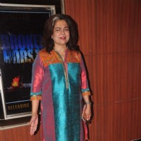 Reema Lagoo poses for the media at the Premier of Coffee Aani Barach Kahi