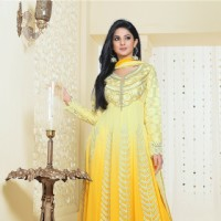 Jennifer Winget in a yellow anarkali dress