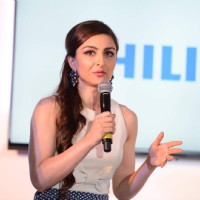 Soha Ali Khan at the Launch of the Latest 4K Ultra HD TV