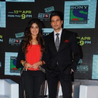 Rajeev Khandelwal and Kritika  Kamra at the launch of Sony TV 'Reporters'