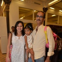 Rohan Sippy poses with his family at The Gateway Schools Annual Art Show