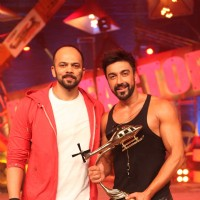 Rohit Shetty and Ashish Chowdhry at Grand Finale of Khatron Ke Khiladi : Darr Ka Blockbuster Returns