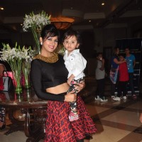 Daljeet Kaur with her cute son at The Beti Fashion Show 2015