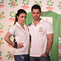 Soha and Kunal at Launch of India's First Gender Neutral Wash Care Labels
