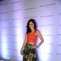 Bruna Abdullah poses for the media at Marks & Spencers Spring/Summer 2015 Collection Launch