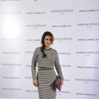 Tisca Chopra poses for the media at Marks & Spencers Spring/Summer 2015 Collection Launch