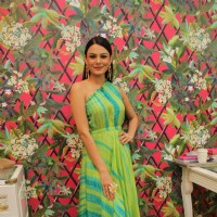 "Aanchal Kumar poses at Mitaali Vohra's ""The Bohemian"" Flagship Store In Mumbai"