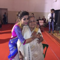 Tina Dutta with her granny
