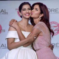 Katrina Kaif with Sonam Kapoor for L'Oreal