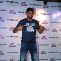 Harbhajan Singh of Mumbai Indians Team Visits Jack and Jones Store in Mumbai