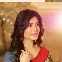 Kritika Kamra Bollywood Style Off White Colour Art Silk Printed Saree