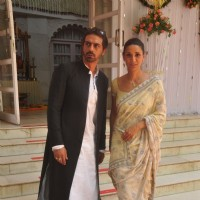 Arjun Rampal and Mehr Jesia Rampal attends Abhishek Kapoor and Pragya Yadav Wedding
