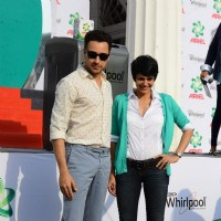 Imran Khan and Mandira Bedi at Promotions of Ariel Matic