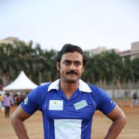 Manav Gohil poses for the media at Gold Charity Match