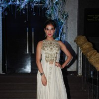 Sonal Chauhan at Vishal Mahadkar's Wedding Reception