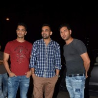 Angad Bedi, Zaheer Khan and Yuvraj Singh at Mukesh Chhabra's Birthday Bash